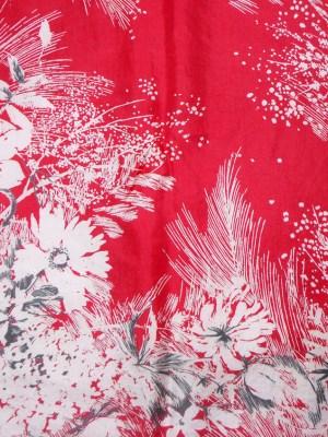 Red floral design Jacqmar silk scarf