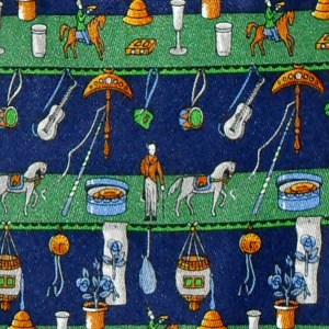 Salvatore Ferragamo circus theme design silk tie