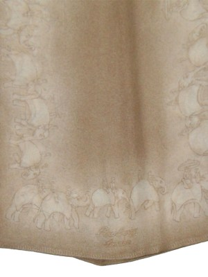 Burberry elephant design silk neck scarf