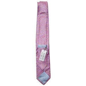 Pink and gold Penrose silk tie