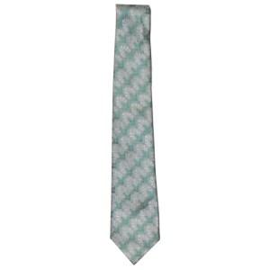Liberty green and silver textured silk design silk tie