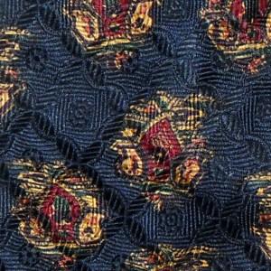 Dark blue background Liberty silk tie