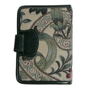 Green tapestry cover personal organiser
