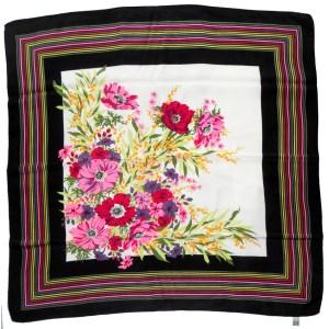 Italian vintage silk scarf with a bright flower design
