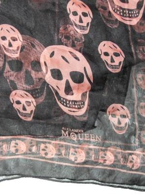 Long skull design scarf by Alexander McQueen