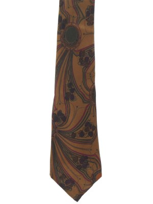Pelo silk tie with brown background