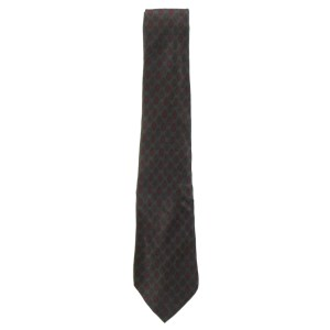 Dark green background silk tie by Pucci