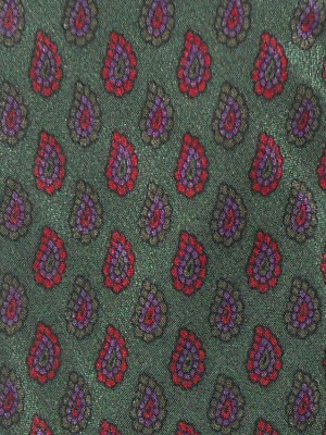 Dark green background silk tie by Pucci