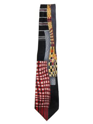Graphic design silk tie MG Firenze