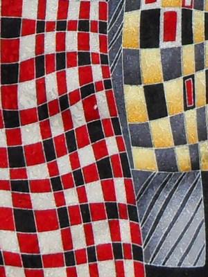 Graphic design silk tie MG Firen