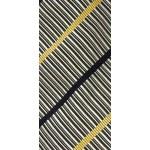Zegna black white and yellow striped tie