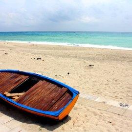 la spiaggia di Roccella Jonica