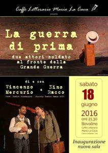 La guerra di prima @ Caffè Letterario Mario La Cava | Bovalino | Calabria | Italia
