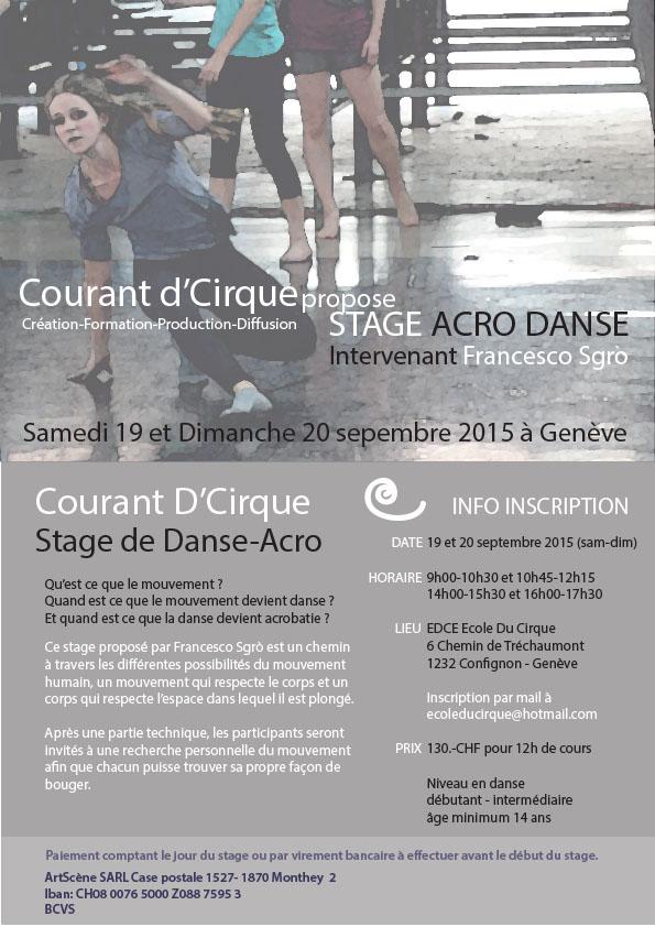 Stage acro danse 2015