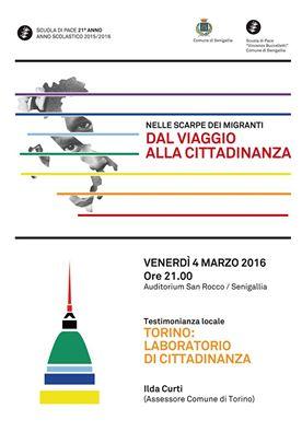 Venerdì a Senigallia terzo incontro della Scuola di Pace