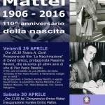 Acqualagna commemora Enrico Mattei