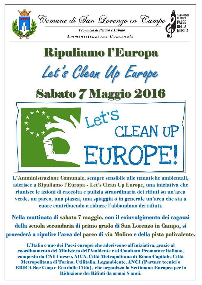 A San Lorenzo in Campo Ripuliamo l'Europa