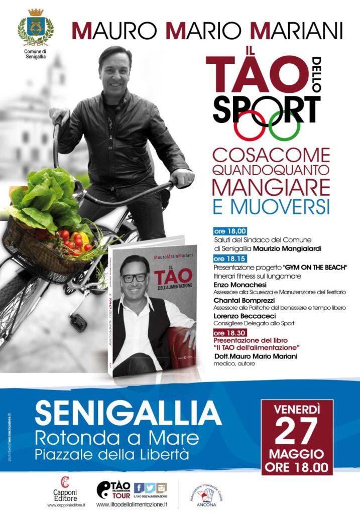 """venerdì 27 maggio, alle ore 18 alla Rotonda a Mare, in occasione della presentazione del libro """"Il TAO dell'alimentazione"""", del medico Mauro Mario Mariani."""