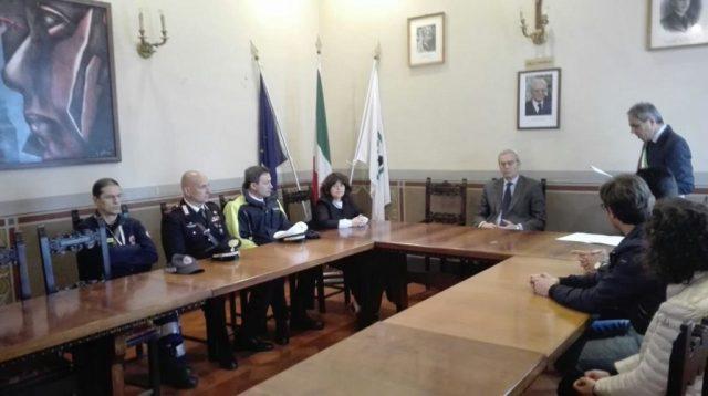Il prefetto Antonio D'Acunto in visita a Trecastelli