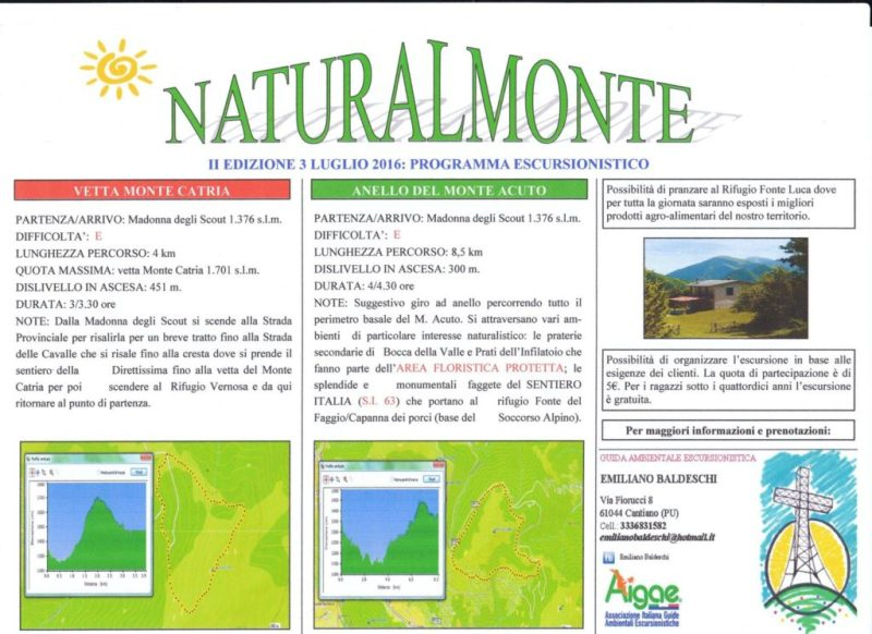 Domenica a Cantiano c'è NaturalMonte