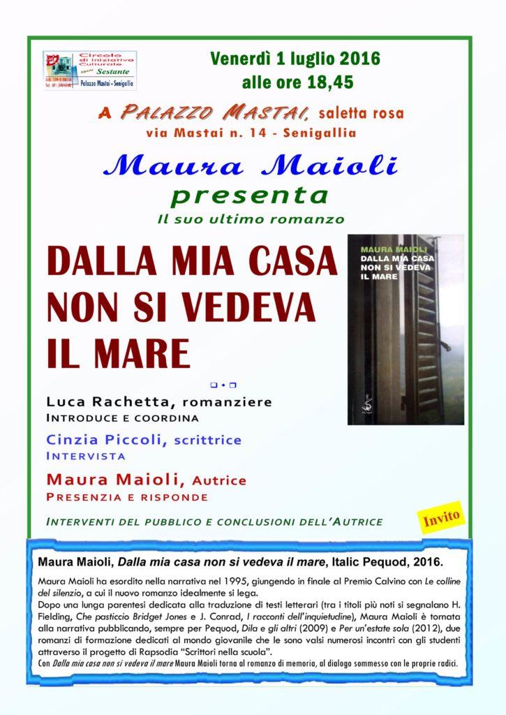 A Senigallia l'ultimo libro della fanese Maura Maioli
