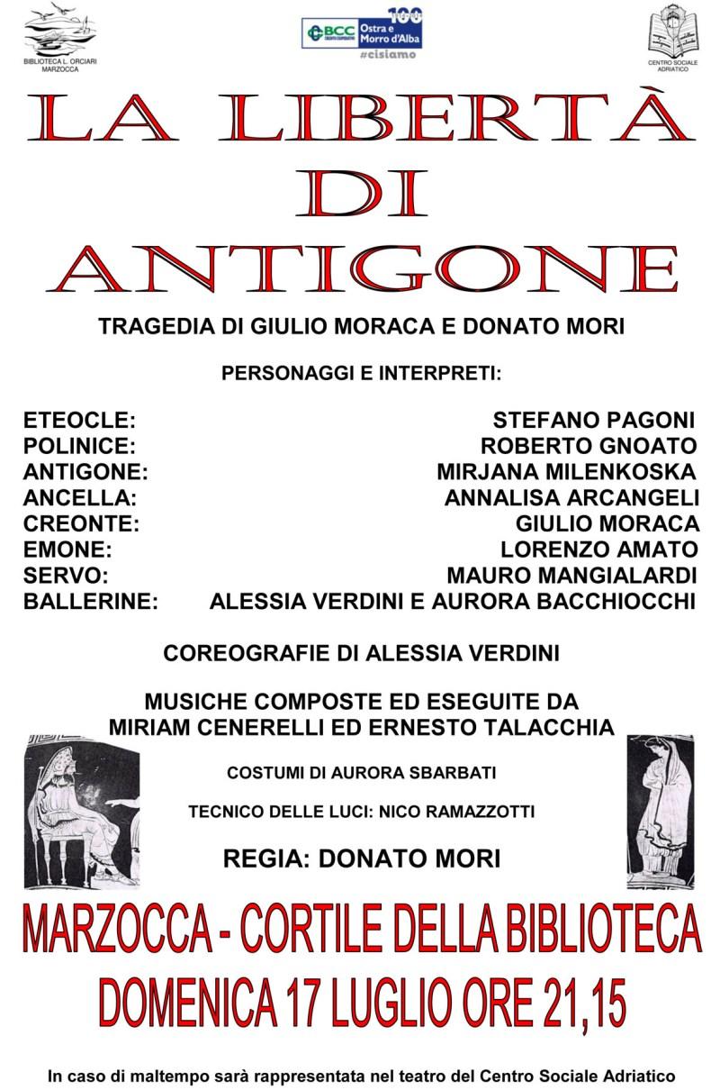 """Anteprima nazionale della tragedia """"La libertà di Antigone"""""""