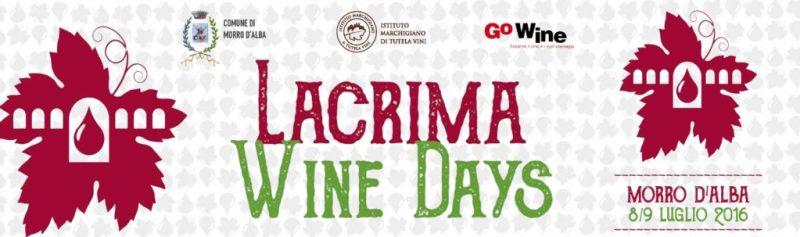 Lacrima Wine Days, a Morro d'Alba due giorni di degustazioni
