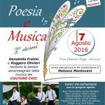 Domenica serata di poesia e musica a Castelleone di Suasa