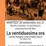 Trecastelli, martedì la presentazione del libro La ventiduesima ora di Marco Severini