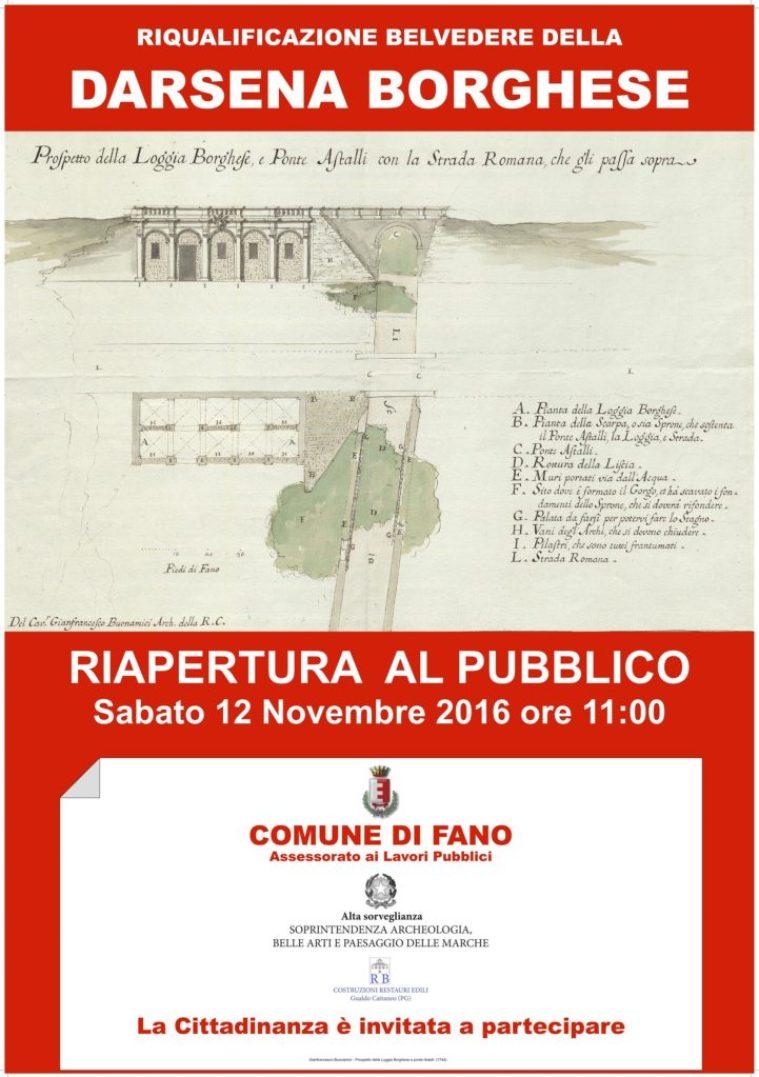 FANO / Sabato verrà riaperto al pubblico il belvedere della Darsena Borghese