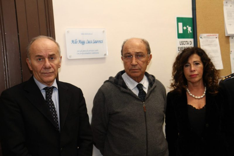 "FALCONARA / Intitolata a Luca Laurenzi la ""Sala Vigili"" di Palazzo Bianchi"
