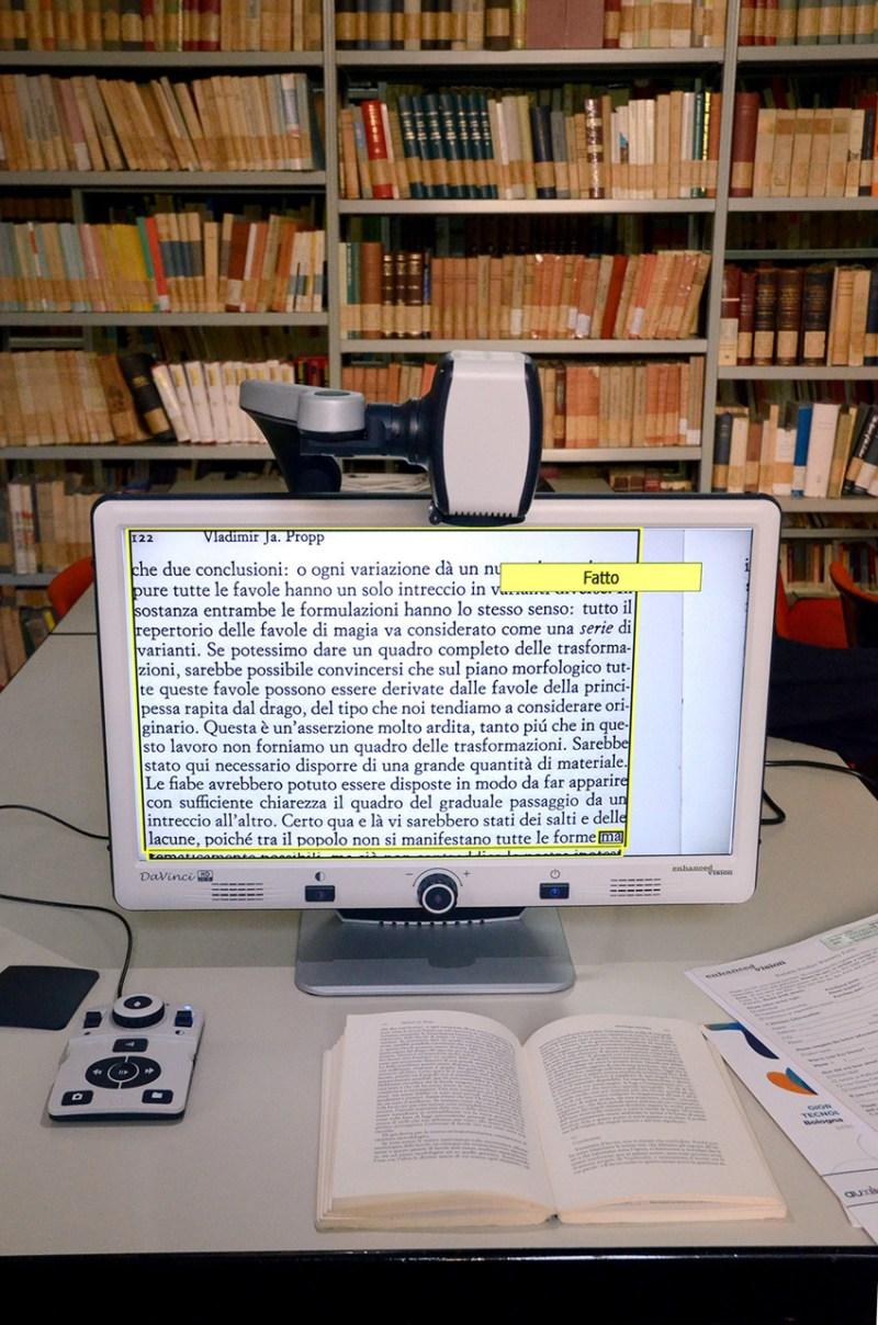 All'Università di Urbino si inaugura la Sala delle attrezzature speciali di lettura per disabili