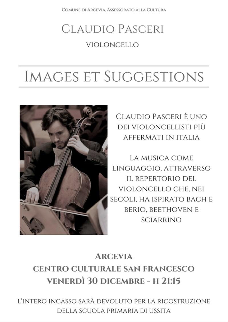 Il violoncellista Claudio Pasceri ad Arcevia per la scuola primaria di Ussita