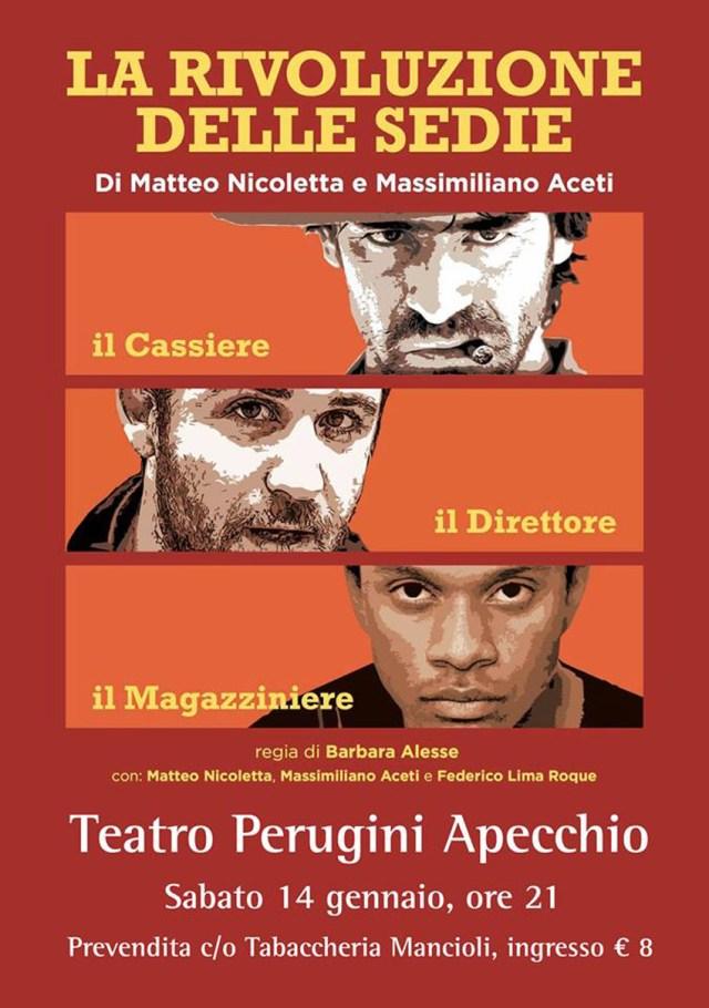 APECCHIO / Al via la Stagione Teatrale 2017 con La rivoluzione delle sedie