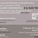 SENIGALLIA / Girolamo Simoncelli e il suo tempo, se ne parla al Centro Mazziniano