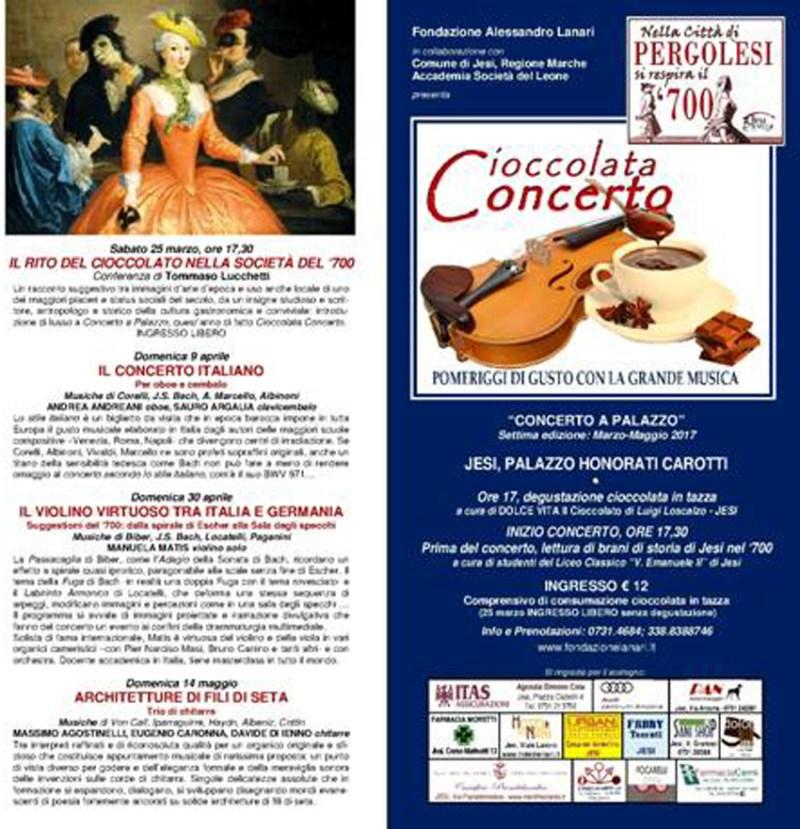Cioccolata Concerto, a Jesi atmosfere conviviali di qualità