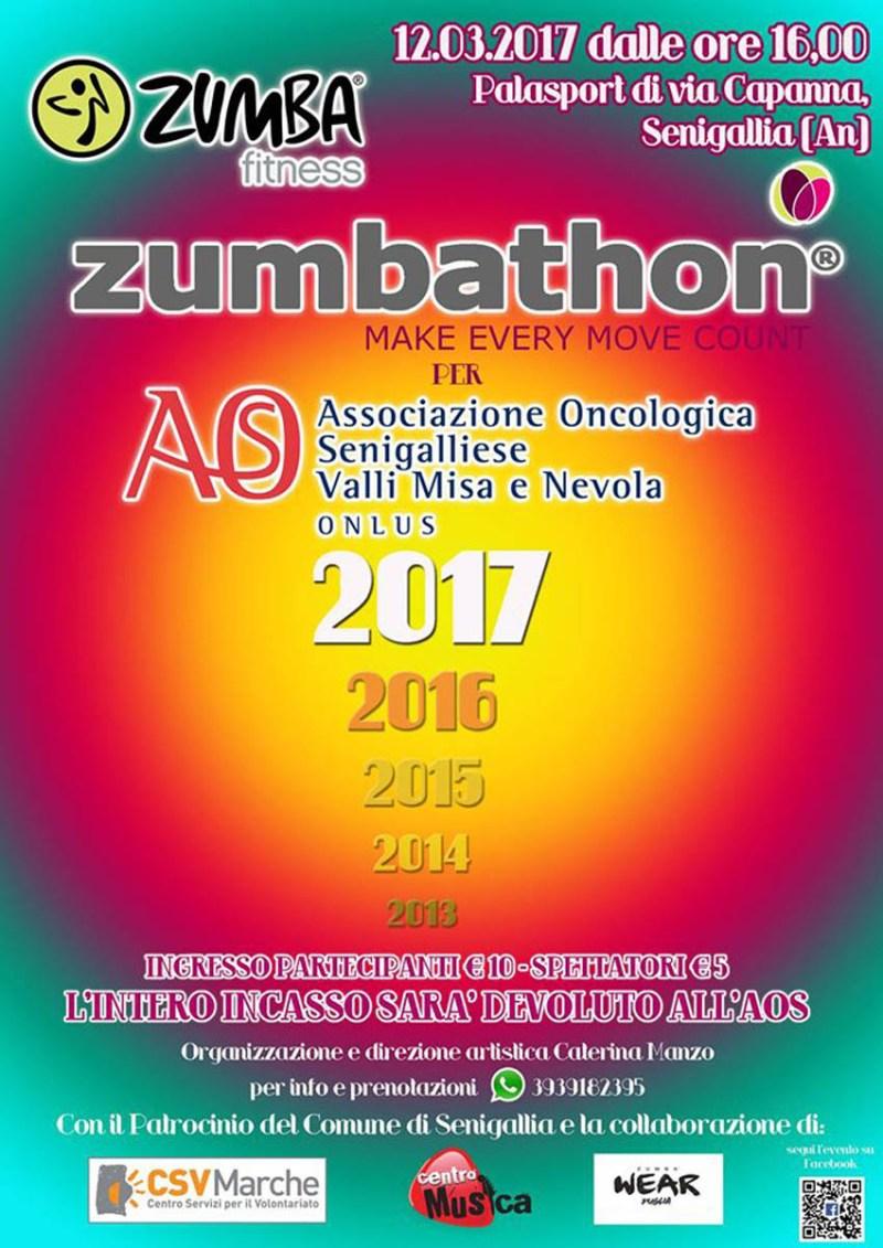"""SENIGALLIA / Domenica al Palasport la quinta edizione di """"Zumbathon® per l'Aos"""""""
