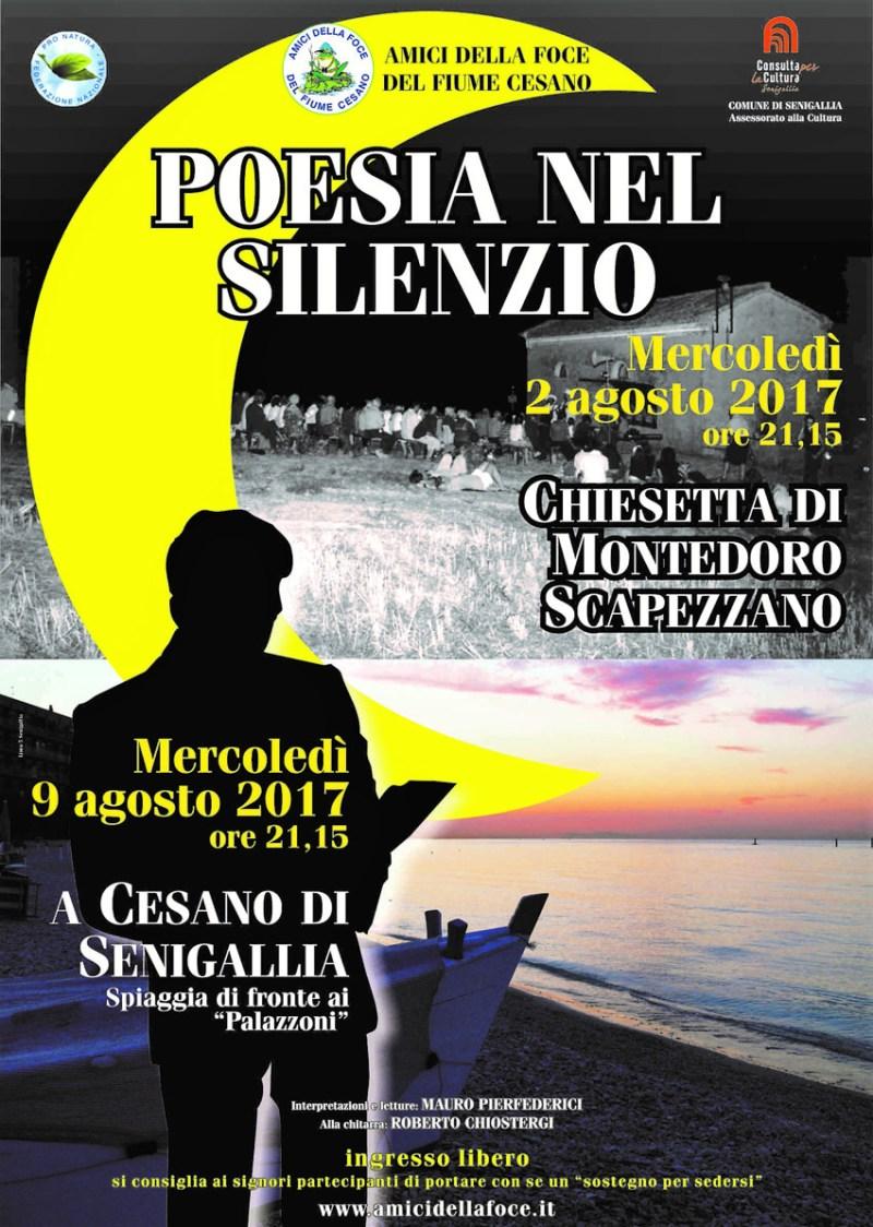 """SENIGALLIA / Quest'anno doppio appuntamento, a Montedoro e Cesano, per """"Poesia nel Silenzio"""""""