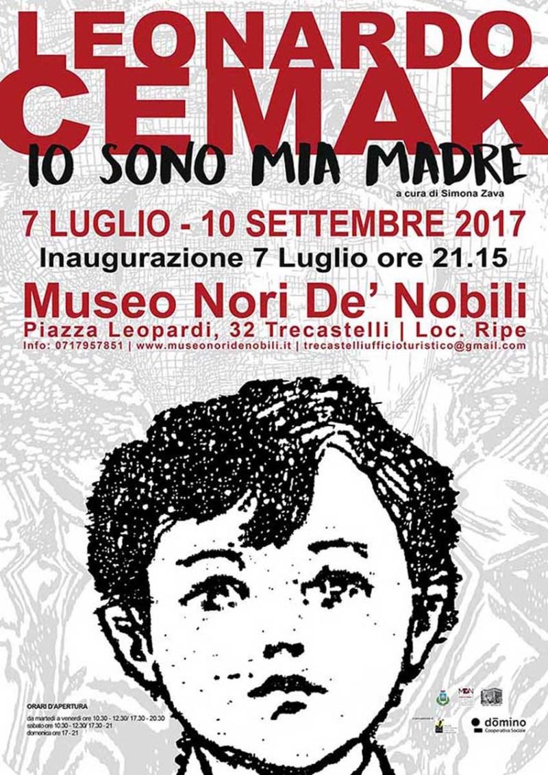 """TRECASTELLI / Al Museo Nori De' Nobili tutto pronto per la mostra di Leonardo Cemak """"Io sono mia madre"""""""
