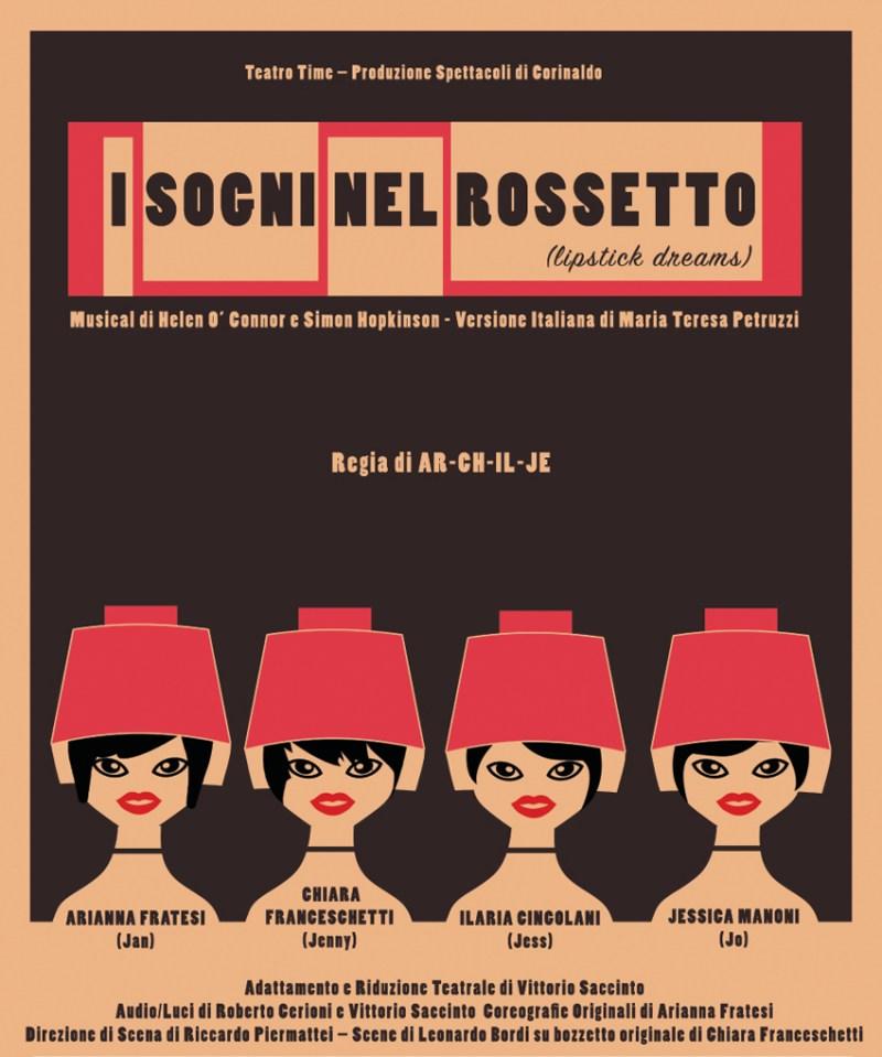 Sabato e domenica al Teatro Portone di Senigallia arriva la commedia musicale I sogni nel rossetto
