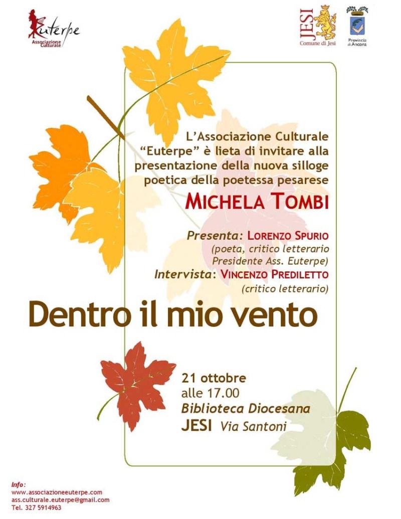 """Poesia marchigiana al femminile: Michela Tombi presenta la sua raccolta """"Dentro il mio vento"""""""
