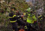 Recuperato dai vigili del fuoco un uomo caduto in un dirupo a Genga