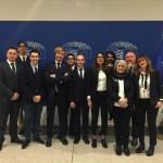 I giovani del Partito democratico ospiti al Parlamento europeo del vice presidente David Sassoli