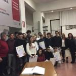 Entusiasmo e commozione all'Istituto Corinaldesi di Senigallia per la cerimonia di consegna dei diplomi nel ricordo di Francesco Saccinto