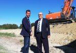 Sopralluogo del sindaco Mangialardi a Borgo Bicchia sul cantiere dei lavori per il rafforzamento degli argini del Misa