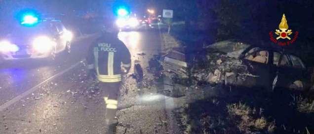 CHIARAVALLE incidente notte provinciale76 jesi feriti vdf2019-08-17-x0 (1)
