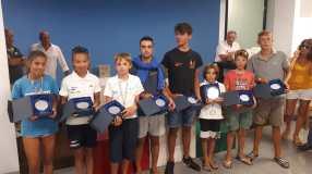 borse di studio al merito sportivo-da sx-Origlio-Orsetti-Emiliani-Recanatini-Gambelli-Lucantoni-Montemarano-Graciotti