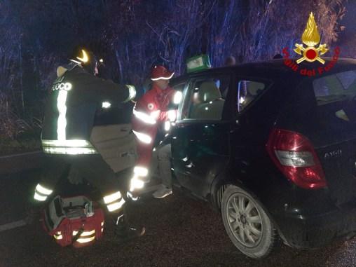 SENIGALLIA incidente provinciale corinaldese borgo catena tre feriti vdf2020-01-18 (1)