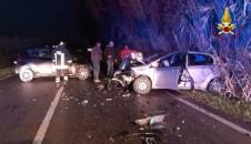 SENIGALLIA incidente provinciale corinaldese borgo catena tre feriti vdf2020-01-18 (3)