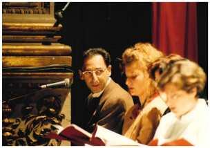 Franco Battiato al Teatro Pergolesi di Jesi per il cavaliere dell'Intelletto_ottobre 1994